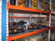 Rayonnage fixe pour machine à bois