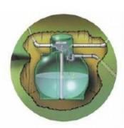 Cuve de rétention d'eau de pluie - Capacité : De 4000 à 8000 L