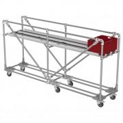 Chariot de transport de boîtes - Convoyeur à plat pour boîtes KLT ou cartons