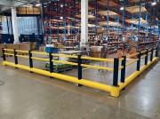 Poteau de sécurité pour entrepôt et voie piétonne à fixation au sol - Poteau de protection en plastique haute résistance
