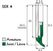Racleur glissière - Série : 4 ,7 ou 12