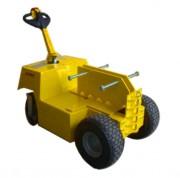 Tracteur pousseur électrique traction charges lourdes 14 tonnes - Système de conduite par timon à hauteur réglable