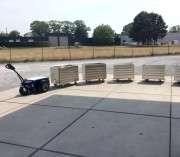Tracteur pousseur grand conteneur - Tireur bacs poubelle capacité 5 tonnes
