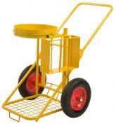 Chariot de voirie porte-sacs-poubelle 25l - Capacité de charge : 150 kg