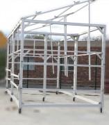 Support panneaux photovoltaïques en profilés aluminium - Dimension : 6 m x 3 m