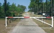 Barriere tournante universelle - Largeur modulable (m) : 3 à 5