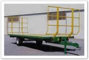 Remorques à plateaux fourragers semi-portés - Plateau semi-porters  - Freinage : hydraulique + Parking