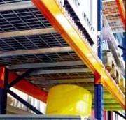 Plancher métallique pour rack - Dimensions maille (L x l) : 50 x 100 mm  -  Stockage lourd