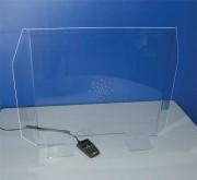 Cloison plexi anti-contamination - Largeur : 90 cm - hauteur : 65 cm - Poids 4,5 kg. Très stable