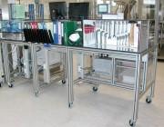 Poste de travail roulant en aluminium - Pour aménagement des ateliers