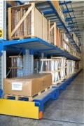 Rayonnage cantilever mobile motorisé  - Rayonnage cantilever jusqu'à 80% de l'espace au sol