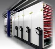 Rayonnage mobile Longitudinal - Permet l'optimisation de vos surfaces de stockage, d'archivage, de classement