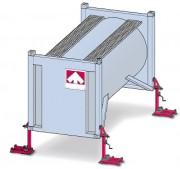 Béquille pour conteneur à suspensions mécaniques