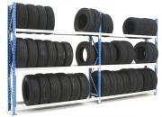 Rayonnage pneu mi-lourd - Capacité : Jusqu'à 1500 Kg par niveau