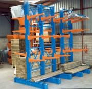 Rayonnage cantilever modulaire - Disponible en deux modèles : Simple face - Double face