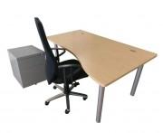 Bureau vague d'occasion - Longueur bureau : 160 cm