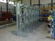 Rayonnage cantilever pour charges longues et lourd - Bras réglables en hauteur