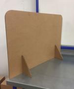 Cloison de protection en carton - Hauteur 420 mm, largeur : 600, 800, 1000 mm