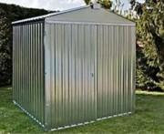 Abri jardin métal brut acier galvanisé