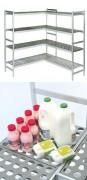 Rayonnage fixe laboratoire - Longueur (mm) : De 3537 à 5157