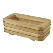 Bac à fleurs en bois rectangulaire - Pin traité classe IV / robinier  - Forme : rectangulaire