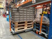 Tiroir télescopique à palettes - Tiroir extractibles pour palette europe stockée au sol