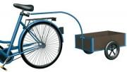 Remorque légère à vélo - Dim. Plateau L x l (mm) : 805 x 535