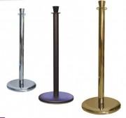 Poteau à corde tête cylindrique - Hauteur : 980 mm - Diamètre : 50 mm - Plusieurs coloris disponibles