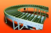 Convoyeur à rouleaux entraînés par chaîne - Pietement réglable +/- 100 mm