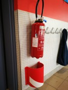 Protection d'objet saillants - Dimensions : 210 x 250 mm - Couleur : Rouge et Blanc
