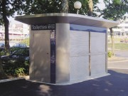 Toilettes exterieur personnalisé ergonomique - Toilettes Saint Lô-dept 50