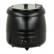 Soupière électrique à couvercle inox tournant et rabattable - Thermostat réglable 30 à 95°C