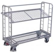 Chariots métalliques à plateaux inclinables - Charge utile (Kg) : 250 - 400
