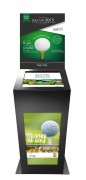 Borne tactile golf double affichage