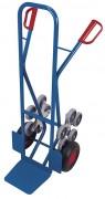 Diables monte escaliers - Capacité: 200 kg - 2 roues en étoiles à 5 roulettes