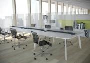 Séparateur de bureau en verre - Dimensions : H 85 x 90, 100, 120 et 140 cm