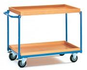 Chariot avec 2 plateaux à rebords fixe - Charge (kg) : 250