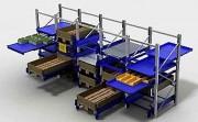 Rayonnage industriel à tiroirs