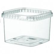 Boîte alimentaire en plastique carrée - Capacité : De 120 à 1180 ml - Modèle Carré - Contact alimentaire - Coloris : transparent