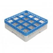 Casiers de lavage verres 16 compartiments - Dim ( L x l x H ) : de 500 x 500 x 140 mm  -  Matière : polypropylène recyclable