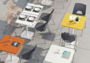 Tables basses de cafétéria design - Table basse collectivités au plateau stratifié