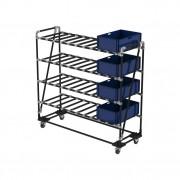 Chariot pour stockage boîtes et cartons - Optimiser votre espace de travail, stocker ou transporter !