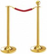 Potelet de prestige doré - Hauteur : 910 - 1000 mm - Fabriqué en inox