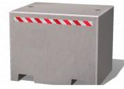 Bloc anti-intrusion en béton - Béton - Poids: 1530 Kg ou 2490 Kg