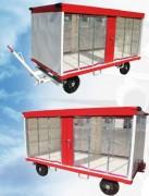 Remorque à bagage en acier galvanisé - Avec ou sans toit