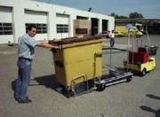 Tracteur électrique de bennes à déchets