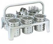 Casier de lavage - Casier de transport de godets à 6 cylindres