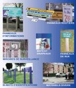 Signalétique urbaine en Bois - Matière : Aluminium - PVC - PMMA - Bois