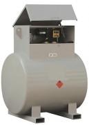 Cuve GNR horizontale - Double paroi en acier laqué - Capacité : 980 litres