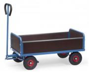 Char à bras 4 ridelles - Charge : 500 kg - Hauteur plateau : 308 mm